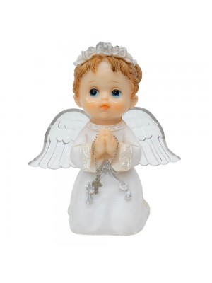 Anjinho Branco Oração 15cm - Enfeite Resina