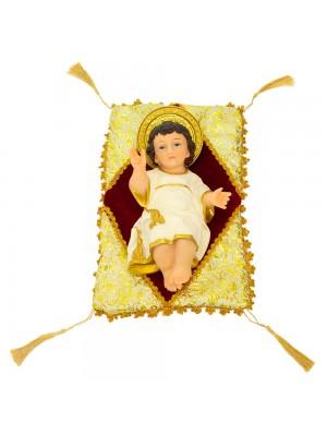 Menino Jesus Na Almofada 28cm - Enfeite Resina