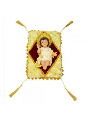 Menino Jesus Na Almofada 20cm - Enfeite Resina