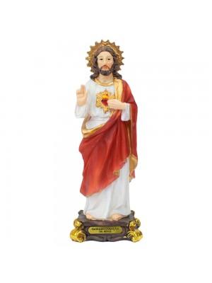 Sagrado Coração De Jesus 15cm - Enfeite Resina