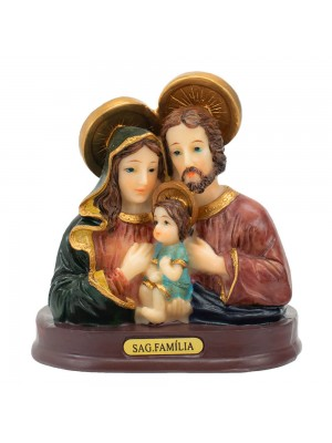 Busto Sagrada Família 9cm - Enfeite Resina