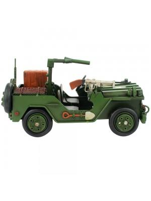 Jeep Verde 13x26x13cm Estilo Retrô - Vintage
