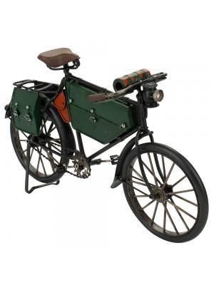 Bicicleta Verde 17.5x30x5cm Estilo Retrô - Vintage