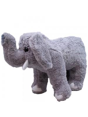 Elefante Cinza Tromba Levantada 37cm - Pelúcia