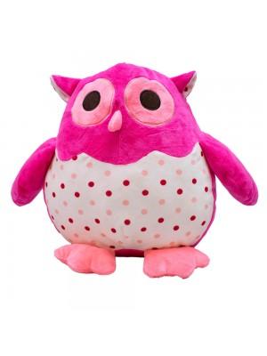 Coruja Pink 28cm - Pelúcia
