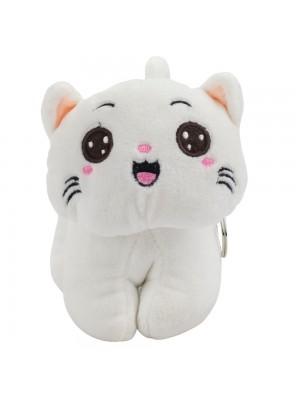 Chaveiro Gato Branco 14cm - Pelúcia