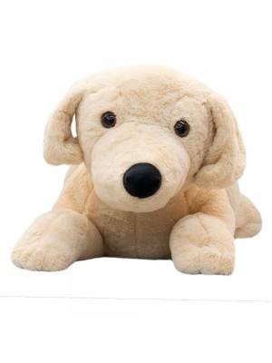 Cachorro Bege Deitado 55cm - Pelúcia