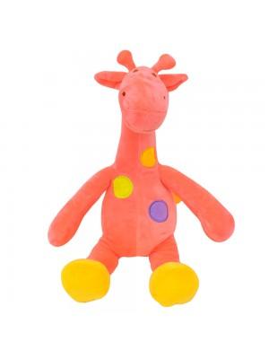 Girafa Rosa Pintas Coloridas 29cm - Pelúcia