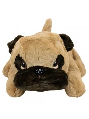 Cachorro Pug Deitado 60cm - Pelúcia