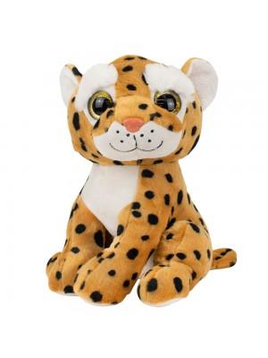 Leopardo Sentado Olhos Grandes 25cm - Pelúcia