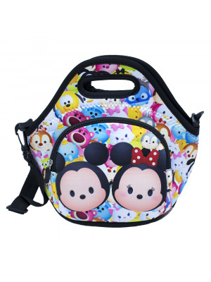 BOLSA TÉRMICA COLORIDA MICKEY MINNIE TSUMTSUM 25X28CM - DISNEY