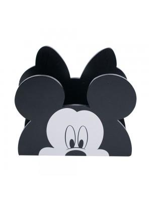 DJL4003-MK1-D | Porta Guardanapo Madeira Mickey & Minnie - Disney