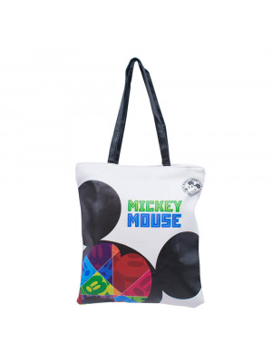 Bolsa Faces Mickey 36x2x32cm 90 Anos - Disney
