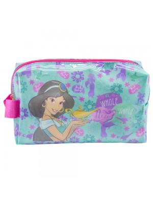 Necessaire Verde Princesa Jasmine Aladdin 13x9x22cm - Disney