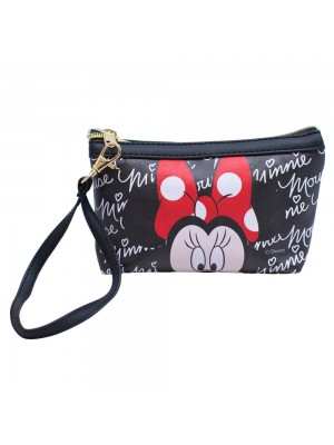 Necessaire Preto Assinaturas Minnie 12x17.5cm Disney DMG9050WMK5D