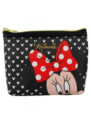 Necessaire Preto Minnie 16x6x20cm - Disney