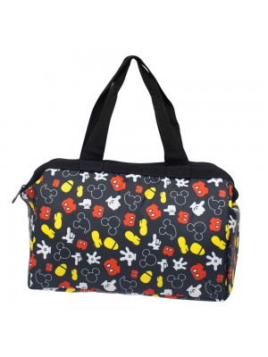 Bolsa Térmica Preta Partes Corpo Mickey 24x34x14cm - Disney