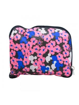 DMSB05-MK2-D   Bolsa Dobrável Florido Rosa Mickey Mouse 43X36cm - Disney
