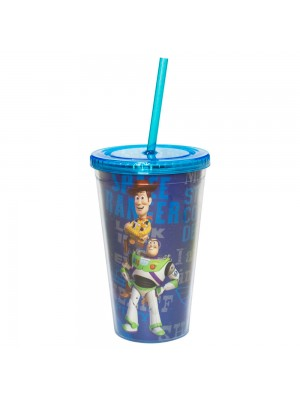 Copo Com Canudo Toy Story 450ml - Disney
