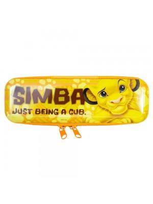 Estojo Metal Amarelo Simba Rei Leão 6x3.5x19cm - Disney