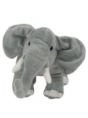 Elefante Cinza Realista 20cm - Pelúcia