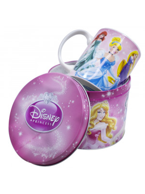 F190-PS1-D | Caneca De Porcelana Na Lata 350ml Princesas - Disney