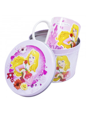 F190-PS2-D | Caneca De Porcelana Na Lata Aurora 350ml - Disney