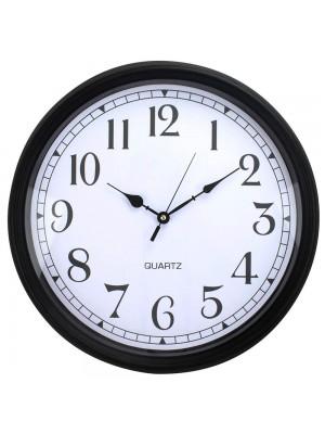 Relógio Parede Redondo Preto 46x46cm