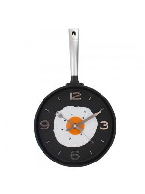 Relógio Parede Frigideira Preta 43.5x25cm