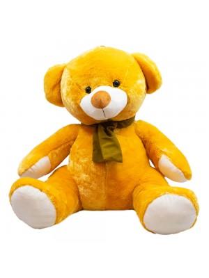 Urso Marrom Alaranjado Cachecol 60cm - Pelúcia