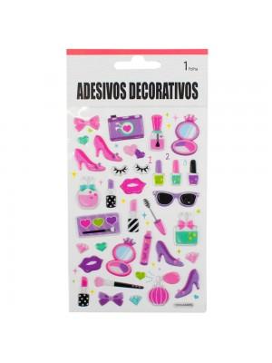 Adesivo Decorativo Itens Beleza 19x10cm