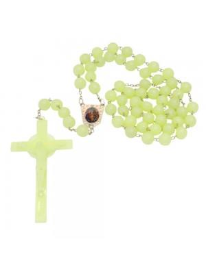 Terço Plástico Crucifixo Verde 97cm