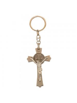 Chaveiro Crucifixo Prateado 13cm