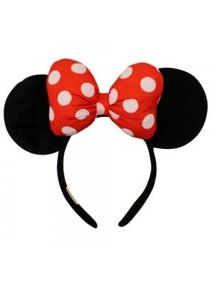 Tiara Laço Vermelho Orelhas Minnie - Disney