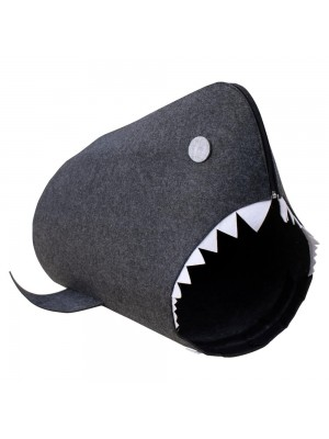 Porta Objeto Tubarão Preto 58x36x40cm