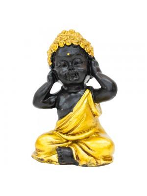 Buda Dourado Não Ouço 7.5cm