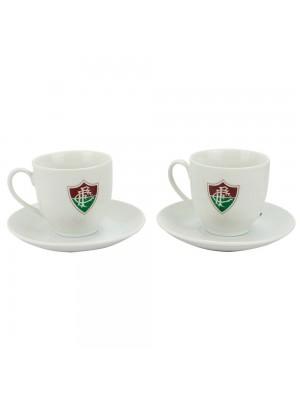 Jogo Com 2 Xícaras De Porcelana 180ml - Fluminense