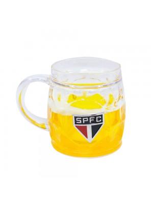 Caneca Cerveja Base Grossa 400ml - SPFC