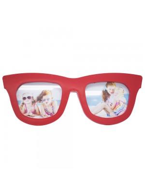 Porta Retrato Óculos Vermelho 2 Fotos (Pequeno)