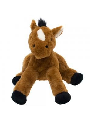 Cavalo Marrom Deitado 34cm - Pelúcia