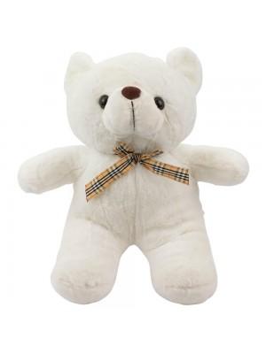 Urso Branco Laço 30cm - Pelúcia