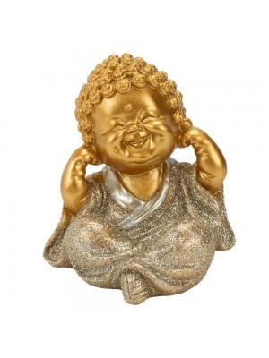 Buda Dourado Não Ouço 9cm