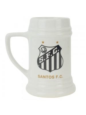 Caneca Porcelana Branca 500ml - Santos