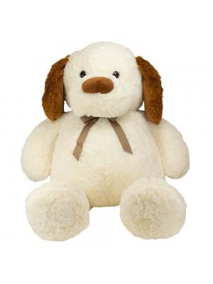 Cachorro Laço Orelhas Marrom 63cm - Pelúcia