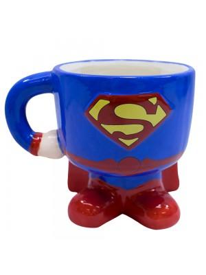 Caneca Porcelana Corpo Superman 450ml - Liga Da Justiça