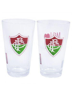 JG 2 copos de vidro 475ml - Fluminense
