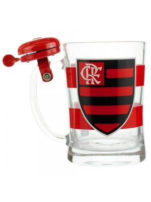Caneca De Vidro Gigante Campainha 650ml Flamengo XC3034AC5B