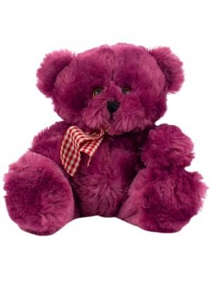 Urso Roxo Laço Sentado 18cm - Pelúcia