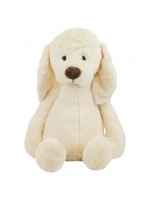 Cachorro Branco Orelhas Caídos 42cm - Pelúcia