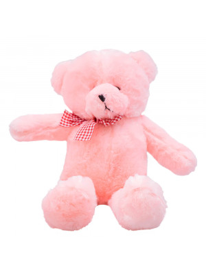 Urso Rosa Laço 43cm - Pelúcia